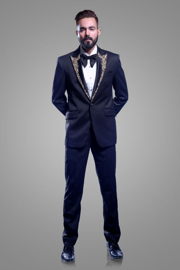 Black-Tuxedo-With-Trouser-By-Ajjay Mehrra