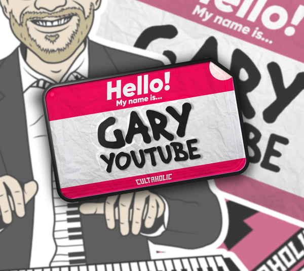 Gary YouTube lapel pin