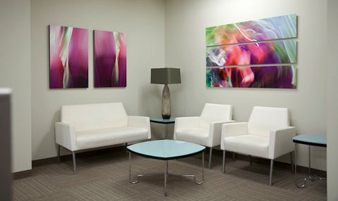 Fine art installation in the Andaz Maui Executive Offices