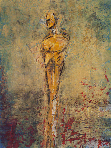 figure painting, full view, by Maui Hawaii artist Shane Robinson