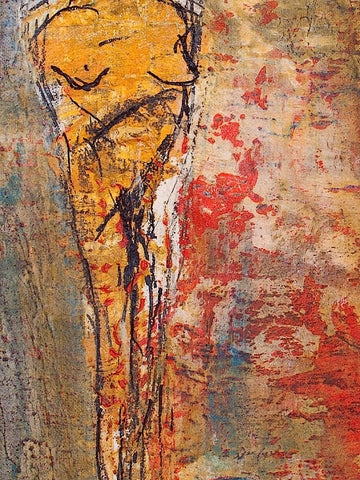 figure painting, detail view 4, by Maui Hawaii artist Shane Robinson