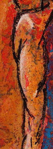 figure painting, detail view 2, by Maui Hawaii artist Shane Robinson