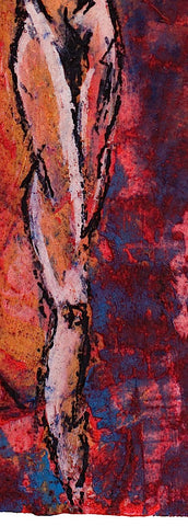 figure painting, detail view 3, by Maui Hawaii artist Shane Robinson