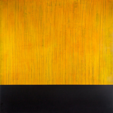 """EDGE: Citrine"" by Maui contemporary artist Shane Robinson, 48"" x 48"", acrylic and resin on wood panel"