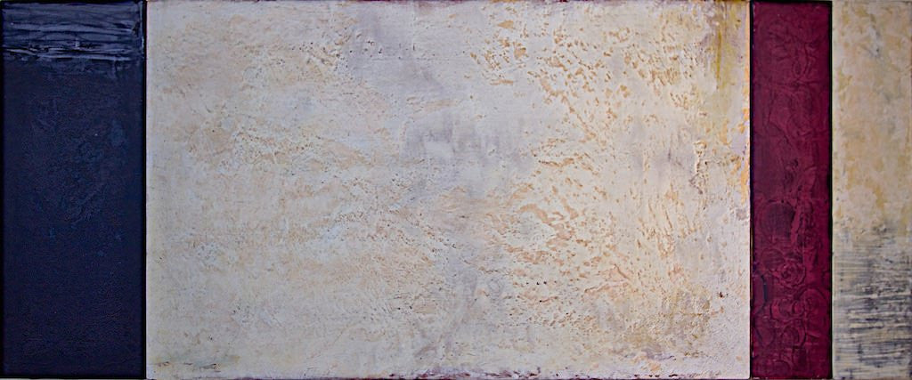 Rapport 140815.02, acrylic and plaster on panel by Maui artist Shane Robinson