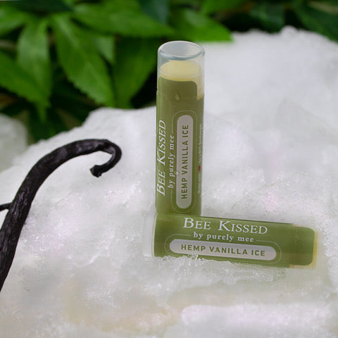 organic vanilla hemp oil extract lip balm