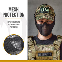 Charger l'image dans la galerie, OneTigris Tactical Foldable Half Face Mask Protective Mesh Mask for Airsoft Paintball with Adjustable and Elastic Belt Strap