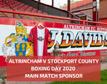 Main Match Sponsorship - Stockport County Boxing Day