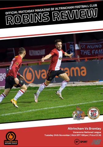 Robins Review | Altrincham v Bromley | November 24th 2020