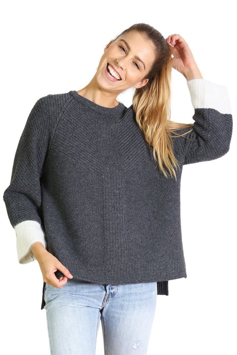 Idaho Wool Sweater-Charcoal