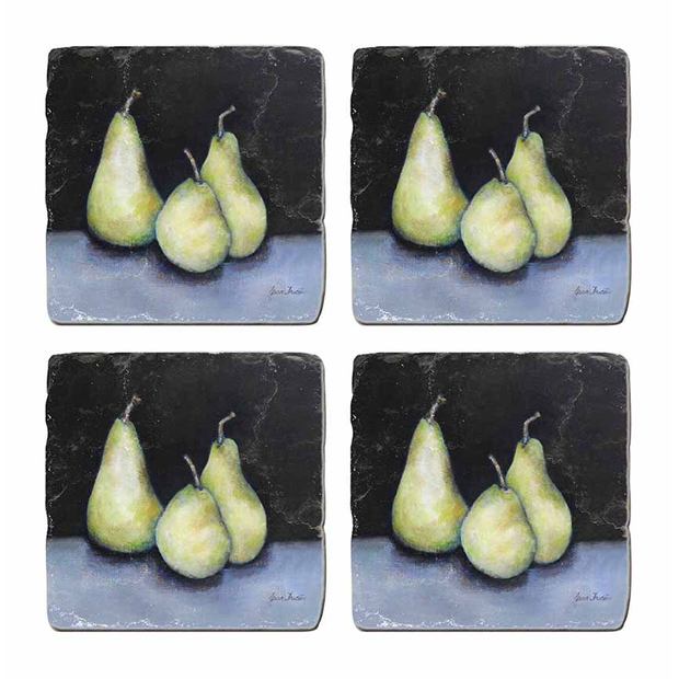 Midnight Pear Coasters- Set of 4