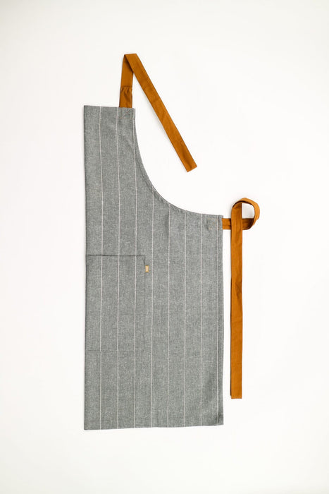 Wild Stripe Apron- Navy Blue & Natural/Taupe