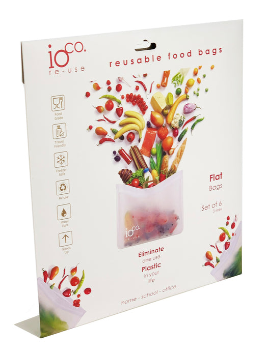 Reusable Food Bags- Flat- IOco