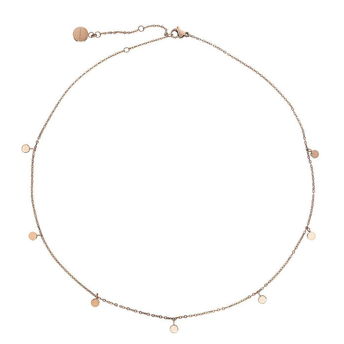 Dainty Necklace with Playful Discs- Assorted Colours