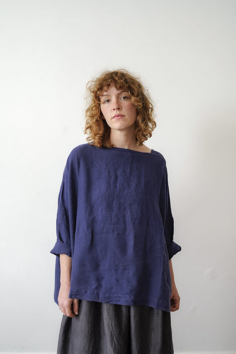 Boxy Sailor Top - Linen