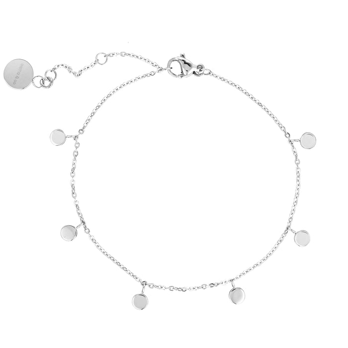Dainty Bracelet with Playful Discs- Assorted Colours