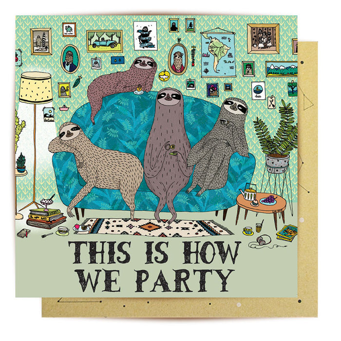 Card- Sloth Party