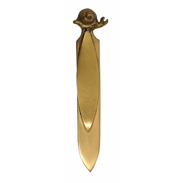 Snail Bookmark in Brass Antique Finish