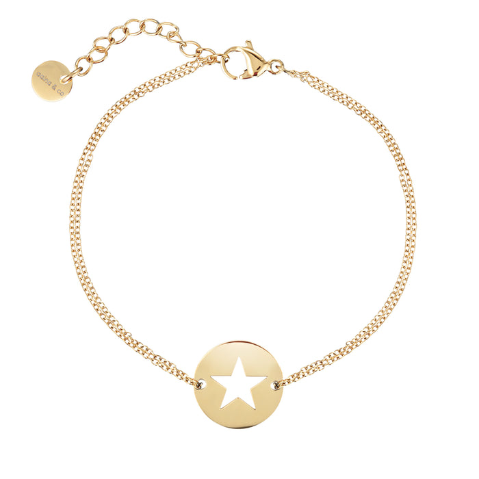 Star Diamond Cut Chain Bracelet- Assorted colours