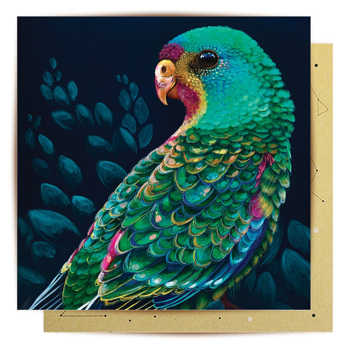 Card- Swift Parrot