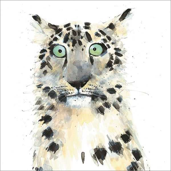 Card-Snow Leopard