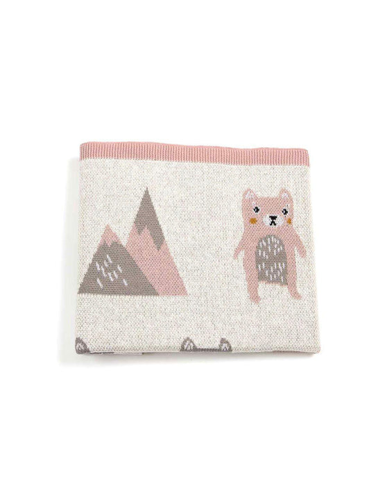 Indus Design Baby Blanket- Stanley Snow Bear