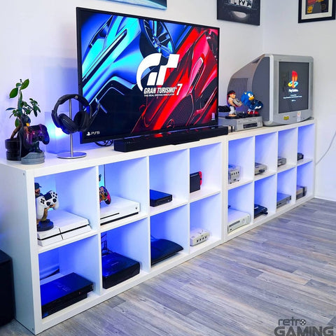 Gaming Room Set-up Featuring a range of Cable Guys