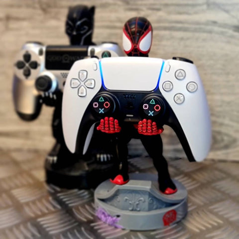 Miles Morales Cable Guy holding PS5 X Controller