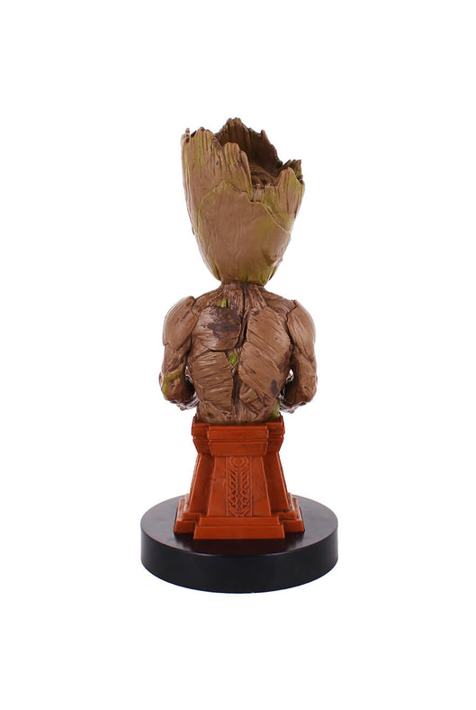 Groot Plinth Cable Guy Phone and Controller Holder Rear Angle