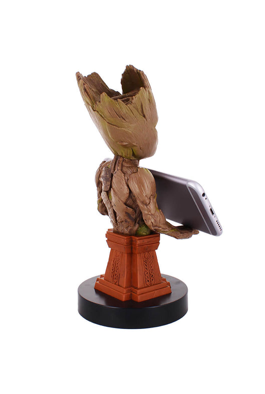 Groot Plinth Cable Guy Holding Phone Rear Angle