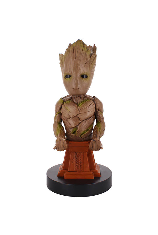 Groot Plinth Cable Guy Phone and Controller Holder Front Angle