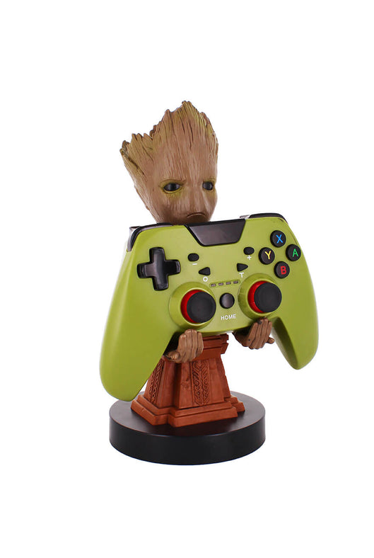 Groot Plinth Cable Guy Holding Controller Front Angle