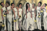 Bridal Party Attitude 24x36 Original Oil Painting $1,550 SOLD