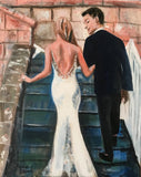 The Perfect Wedding 18x24 Original Oil Painting $950 SOLD