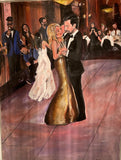 Mom & Son Wedding Dance 30x40 Original Oil Painting $2,800 Artist's Private Collection