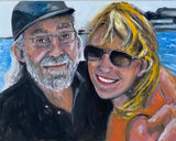 My life with Sam in paintings 18x24 Original Oil Painting $950 Artist's Private Collection