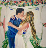 The Kiss 16x20 Original Oil painting $850 SOLD