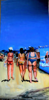 Bikini Beauties 48x24 Original Oil Painting $1,400