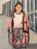 Beautiful Children 24x18 Original Oil Paintings $875 Donated to Shriners Hospital