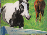 Two Horses Who Were In Love 18x24 Original Oil Painting $475 SOLD