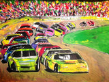 Racing Nascars 20x24 Original Oil Painting $725 SOLD