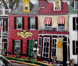 Charming New Hope Street Scene 20x26 Original Oil Painting $775 SOLD