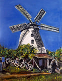 Windmill In Germany 18x24 Original Oil Painting $575 SOLD