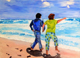 Honeymoon in Cancun 30x40 Original Oil Painting $1,325 SOLD