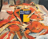 In the Mood For Crabs 16x20 Original Oil Painting $775