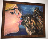 I Love MyPet 16x20 Original Oil Painting $600 SOLD