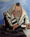 Wonderful Loving Father and Husband Praying Original Oil Painting $575 SOLD