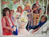 Porch Picnic 30x40 Original Oil painting $1,770