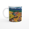 Three Children Playing in The Sand Mug