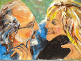 Sam &  Me 16x20 Original Oil Painting $850 Artist's Private Collection